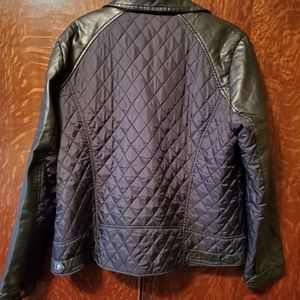 Apt. 9 Jackets & Coats - Womens Apt. 9 Black Leather/quilted polyester Jack